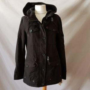 Levi's Hooded Military Black Jacket
